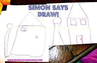 "Play ""Simon Says...DRAW!"" to help kids practice following directions in a fun way. This one if great or the whole family #Momto2PoshLilDivas"