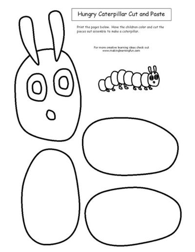 The Very Hungry Caterpillar Cut And Paste Preschool Items