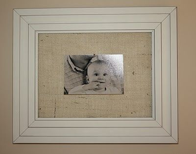 DIY frame - burlap scrap instead of a mat / For the home ...
