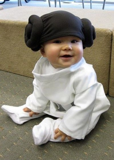 Diy Infant Princess Leia Costume One Day My Kids Are Going
