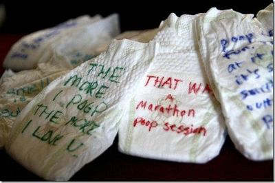 Baby Shower Write Notes On Diapers To Make Midnight