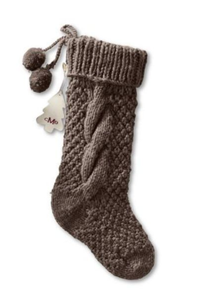Chunky Cable Knit Christmas Stocking / knits and kits ...