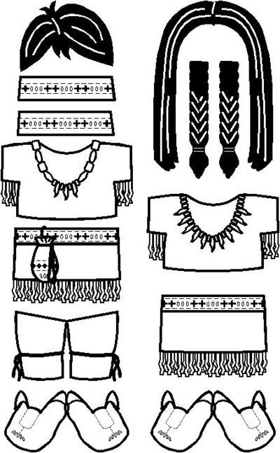... paper dolls to make and color / Thanksgiving Ideas - Juxtapost