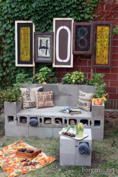Cinder block garden furniture  For my backyard  Juxtapost