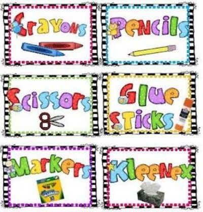 photograph about Free Printable Classroom Labels for Preschoolers identified as again toward university Printable labels-Totally free / Preschool merchandise