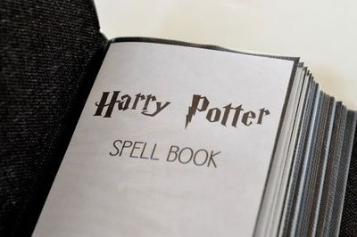 picture relating to Harry Potter Spells Printable titled Harry Potter spell e-book printable / halloween year! - Juxtapost