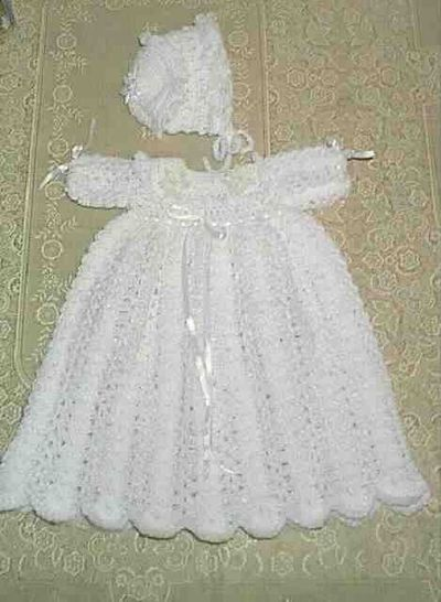 Free Knitting Pattern Baby Christening Gown : Christening Gown free crochet pattern / crochet ideas and tips - Juxtapost