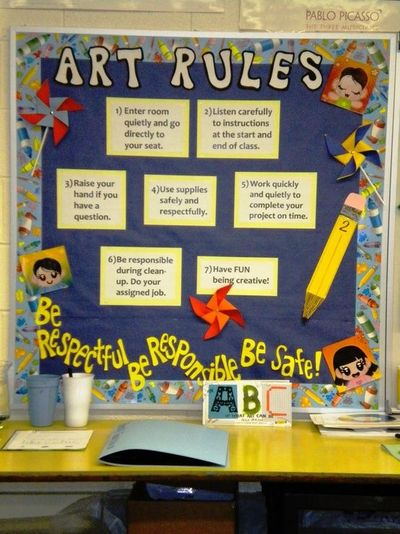 Collaborative Classroom Rules ~ Art room expectations nice signs juxtapost