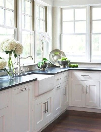 Soapstone counter top farmhouse sink cool mission cabinets For my kitc