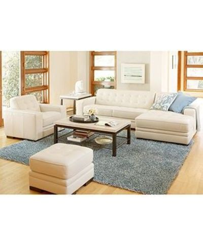 Claudia Ii Leather Sofa Living Room Furniture Collection Possible