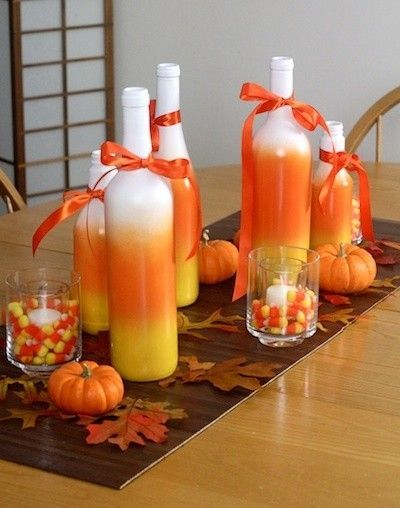 Candy Corn Wine Bottles, Fall decorations, table decorations, autumn decorations, Halloween decorations WineBottleGlows. 5 out of 5 stars () $ ONE Candy Corn Painted Wine / Champagne Bottle GiftsbyGaby. 5 out of 5 stars () $ Favorite Add to See similar.