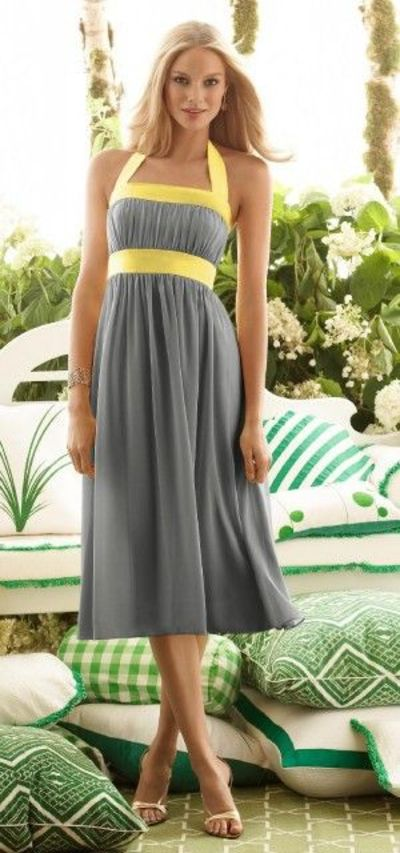 Yellow And Gray Bridesmaid Dresses 110