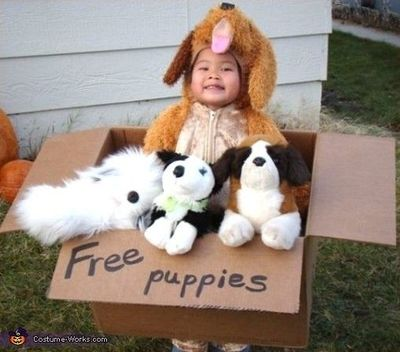 Free Puppies, great costume idea!