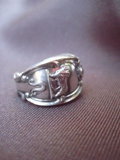 Vintage Sterling Silver Zodiac Spoon Ring #jewelry #ring $72