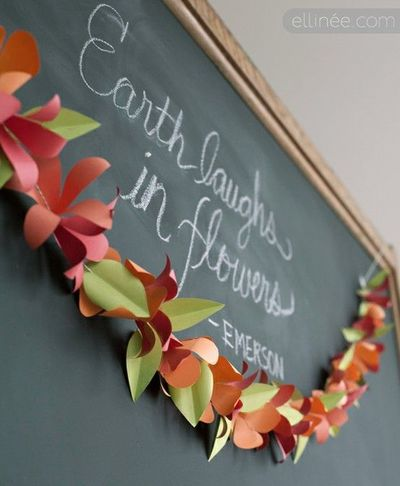 Diy paper flower garland tutorial with printable pdf by elli diy paper flower garland tutorial with printable pdf by ellinee craft paper mightylinksfo