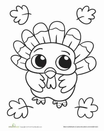 Worksheets baby turkey coloring page thanksgiving ideas for Cute turkey coloring pages