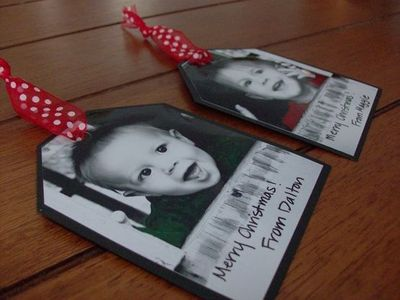 Homemade christmas gift tags so doing this for for Homemade gifts from toddlers to grandparents
