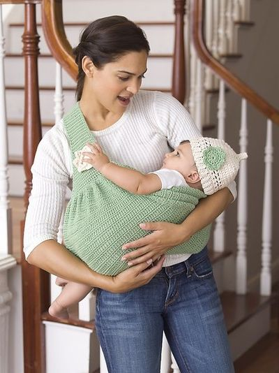 Free Crochet Pattern Baby Carrier : Ravelry: Mothers Love Baby Sling & Beanie pattern b ...