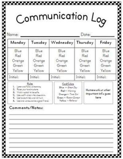 Behavior Communication Log