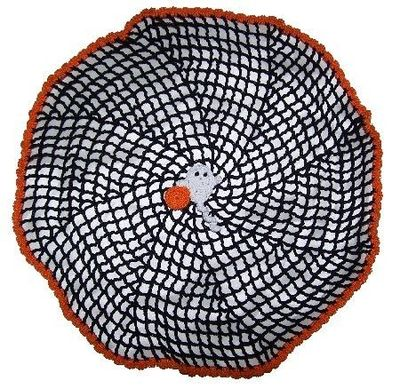 Free Crochet Pattern Halloween Spiral Spider Web Simple