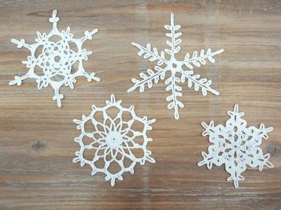 Christmas decorations - crochet snowflakes