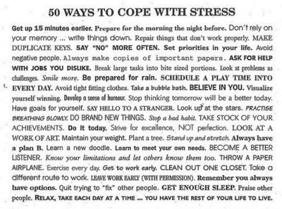 Coping with stress.