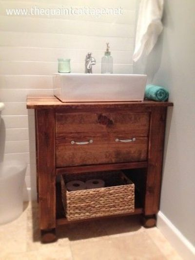 Diy bathroom vanity bath ideas juxtapost for Diy bathroom sink cabinet