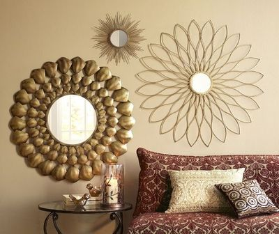 Pier 1 Radiant Mirror Petite Gold Burst Wall D 233 Cor And