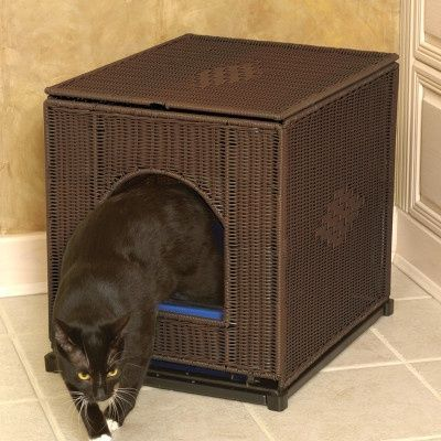 Litter box cover for the love of cats juxtapost for Furniture covers petsmart