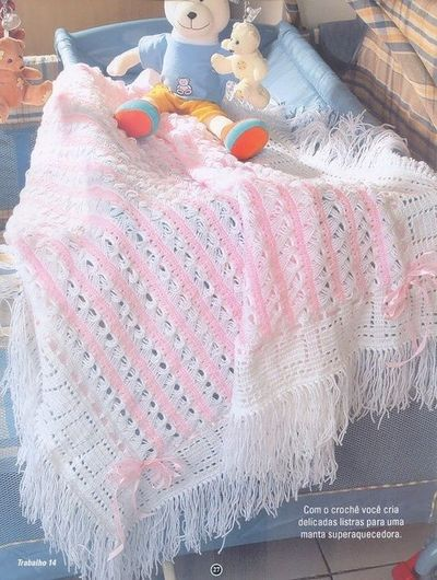 Broomstick Lace Baby Blanket free crochet graph pattern ...