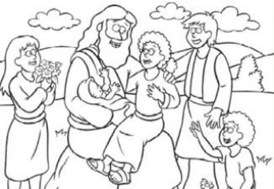 Free Coloring Page Jesus and the