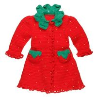 crochet strawberry child dress