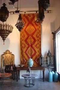 lamps, tapestries