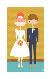 custom portraits by Denise Hedin - such a cute idea for a gift or anniversary present