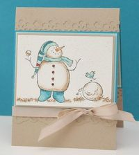 Adorable snowman card idea
