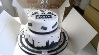 New York Theme 21st Birthday Cake