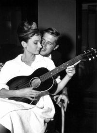 "On the set of ""Breakfast at Tiffany's"""