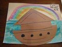 noah's ark. Going to add small die cut animals. Could use for letter Nn.