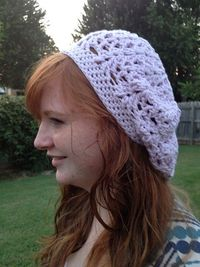 Ravelry: The Kid Lace Slouch Hat pattern by Kim Polchow