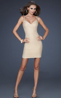 Short Embellished Spaghetti Strap Homecoming Dresses 2012