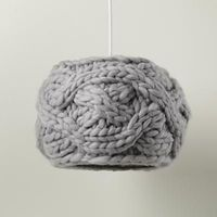 A knitted lampshade from The Land Of Nod!!!!!