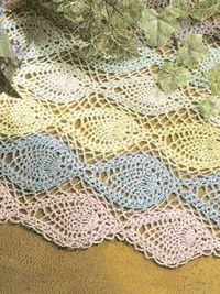 Free Pineapple Table Runner Crochet Pattern Knits And