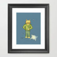 You're the Cat's Pajamas art print by Two Chicks Design on Society 6