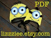 Pattern Minion hat crochet PDF - fun winter hat and easy to make - despicable me movie. $3.99, via Etsy.