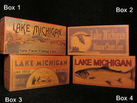 Lake Michigan fishing lure boxes to decorate your lake house