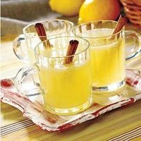 Warm Homemade Lemonade- warms you up and reminds you of summer!