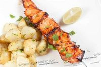 summertime grilling...sweet chili salmon kebabs
