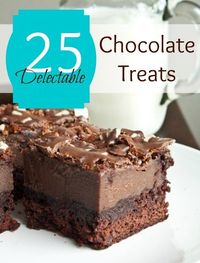 25 great chocolate dessert ideas #chocolate #dessert #recipes