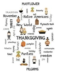 Fun Thanksgiving Poster to display. Give one to your kids and have them write Thanksgiving stories using the words on the poster. FREE