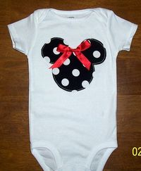 Minnie Shirt w/ easy ribbon bow